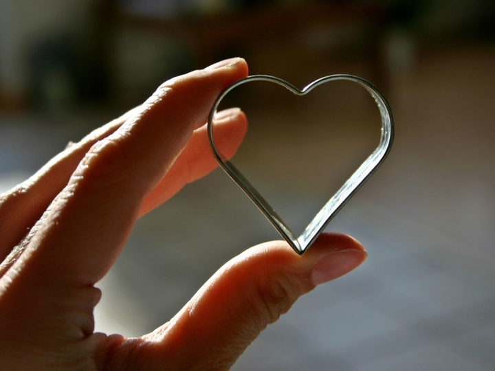 Hand mit Herzform