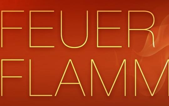Das Banner der Feuer- & Flammen-Tour des Deutschen Caritasverbandes