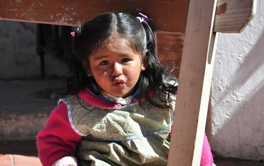 Mädchen in Peru