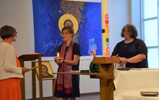 v.l.: Schwester Mirjam Schambeck, Schwester Maria Schmitt, Schwester Elisabeth Wöhrle