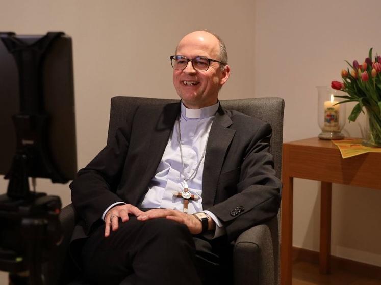 Bischof Franz beim ersten Live Talk zur Fastenzeit.