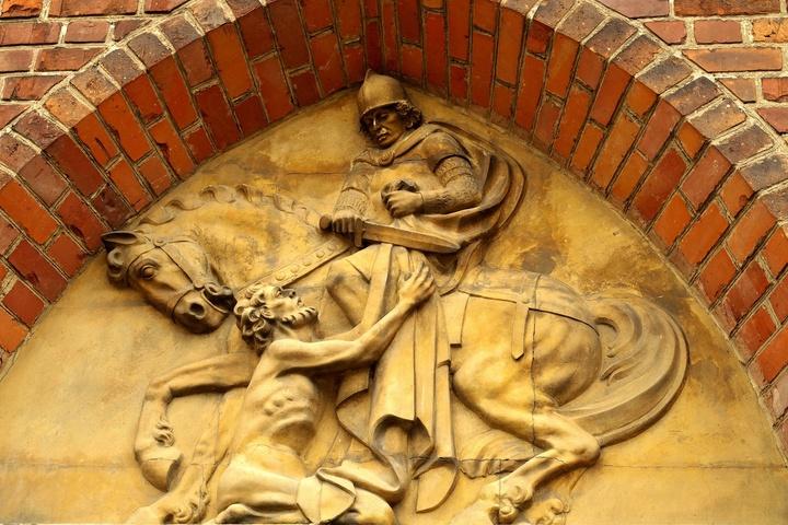 Relief des heiligen Martin