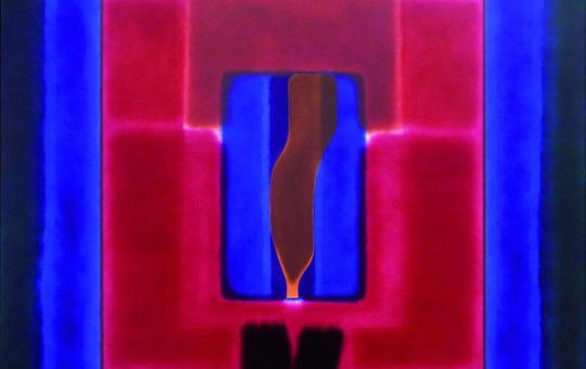 """Ölgemälde """"Arazzo 01 (Gobelin 01). Buch von der Pilgerschaft"""" aus dem Jahr 2011."""