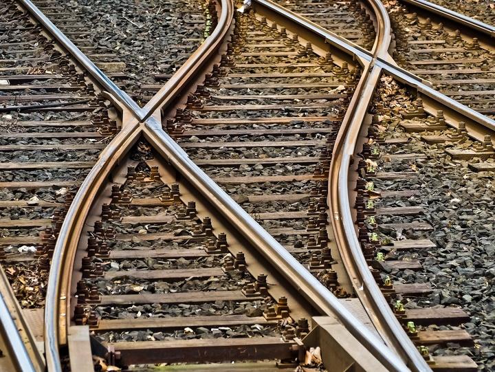 Weichen im Gleis