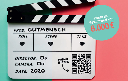Plakat des Caritas-Kurzfilmwettbewerbs