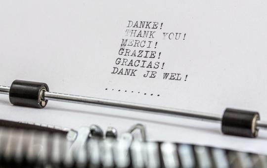Danke - Thank you - Merci