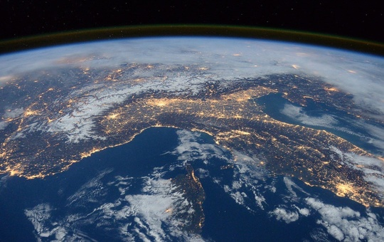 Erde vom Weltraum aus gesehen