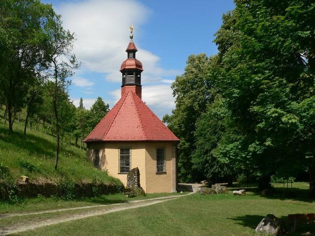 Die Kappele Maria Steinthal oberhalb von Hammelburg