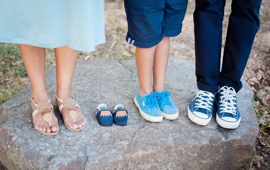 Die Füße einer Familie