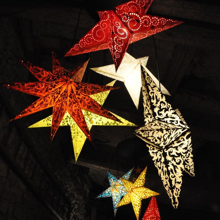 Sternförmige Laternen