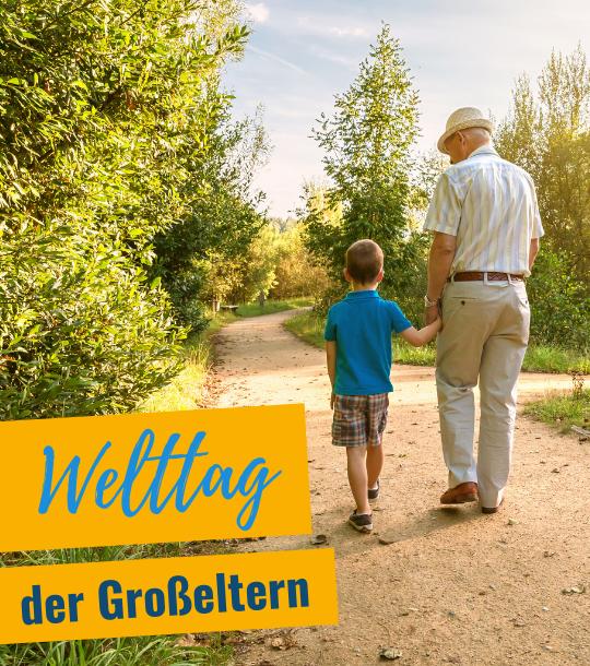 Banner Welttag Großeltern