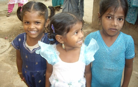 Slumkinder in Bangalore in Indien