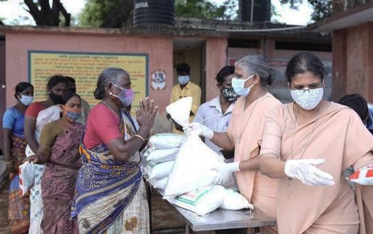 Nothilfemaßnahmen in Indien