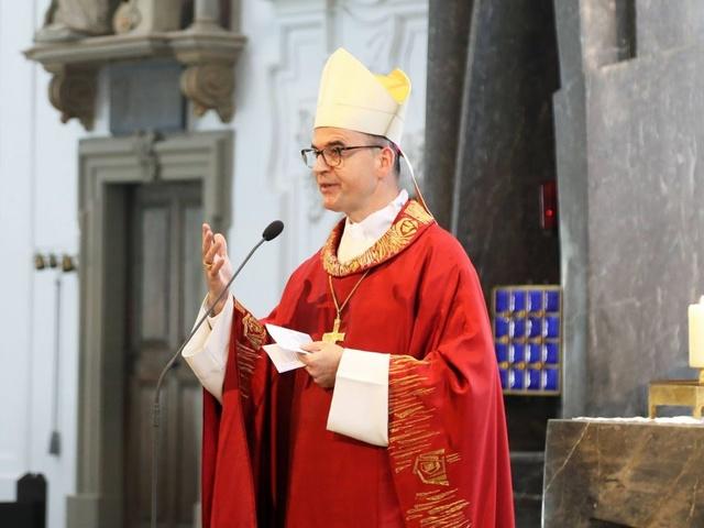 Bischof Franz beim Kiliani-Abschluss 2020