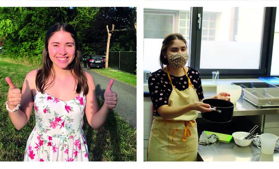 Anna und Franziska haben ihren Bundesfreiwilligendienst im Wohnverbund Haus Gertrud im SkF gemacht