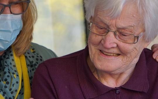 Unterstützung in der Altenpflege