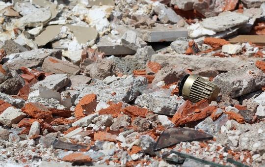 Symbolbild für die Schäden eines Erdbebens