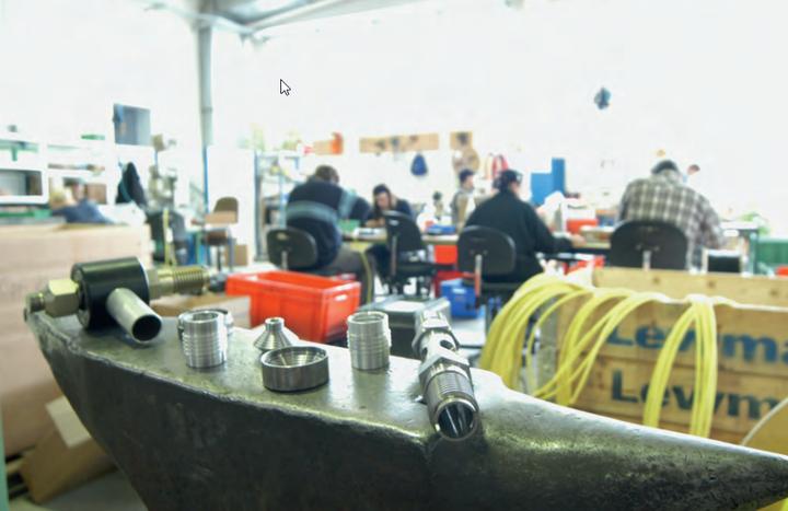 Im Inneren der Metallwerkstatt des Erthal Sozialwerks