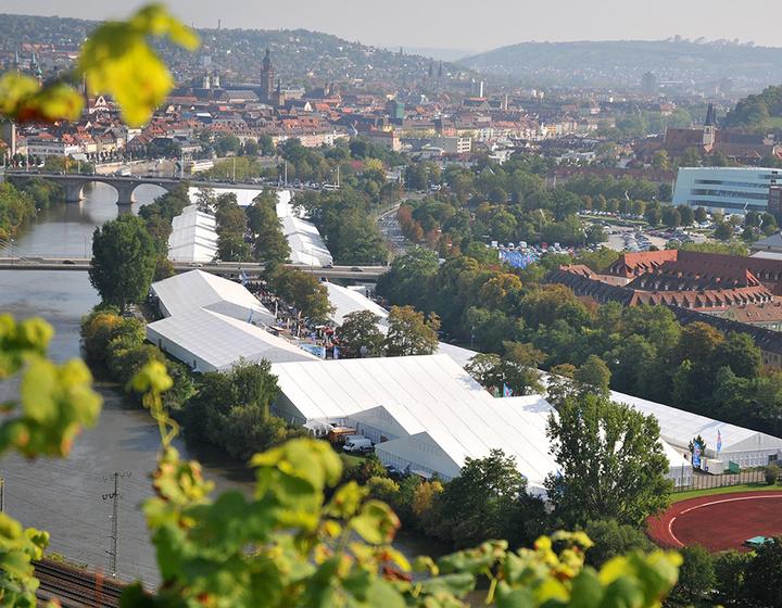 Luftaufnahme der Mainfranken-Messe