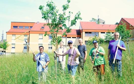 Die Gärtnerinnen und Gärtner der Streuobstwiese Sankt Josefs Stift freuen sich über den Preis.