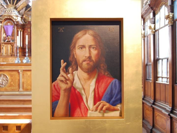 Jesus Ikone in der Kirche St. Mauritius Wiesentheid
