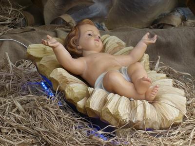 Das Jesuskind in der Krippe