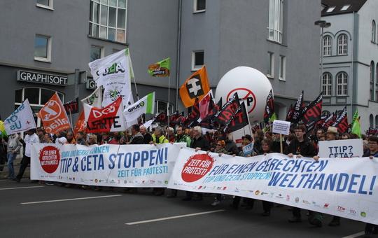 KAB auf einer Demo in Hannover