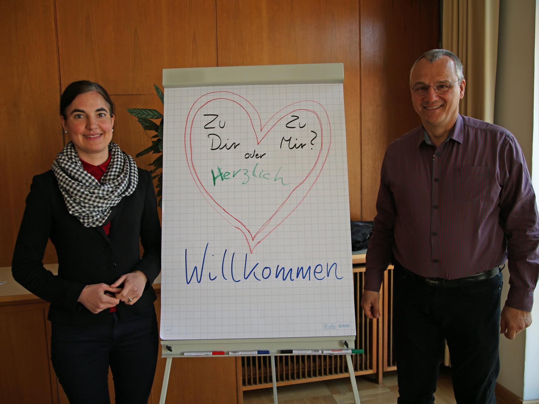 Melanie Jörg-Kluger und Frank Hofmann-Kasang leiten das Seminar für katholisch-evangelische Paare.