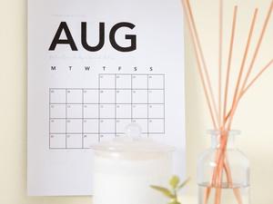 Kalender August 2019