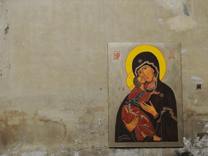 Ikone der Muttergottes mit Jesuskind