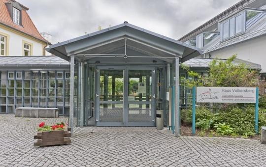 Eingangsbereich der Jugendbildungsstätte Volkersberg