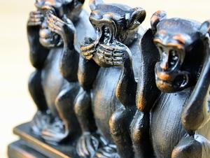 Drei verwirrte Affen