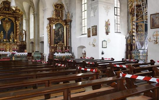 Klosterkirche Kreuzberg in Corona-Zeiten