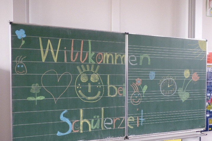 Tafelbild des Projekts Schüler-Zeit
