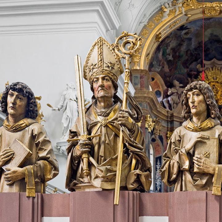 Abbildungen der Frankenapostel im Würzburger Neumünster