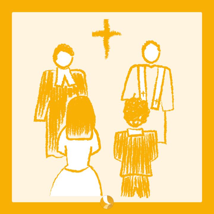 Eine Trauung mit einem evangelischen und katholischen Geistlichen